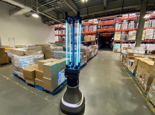 In effort to fight COVID-19, MIT robot gets to work disinfecting The Greater Boston Food Bank thumbnail