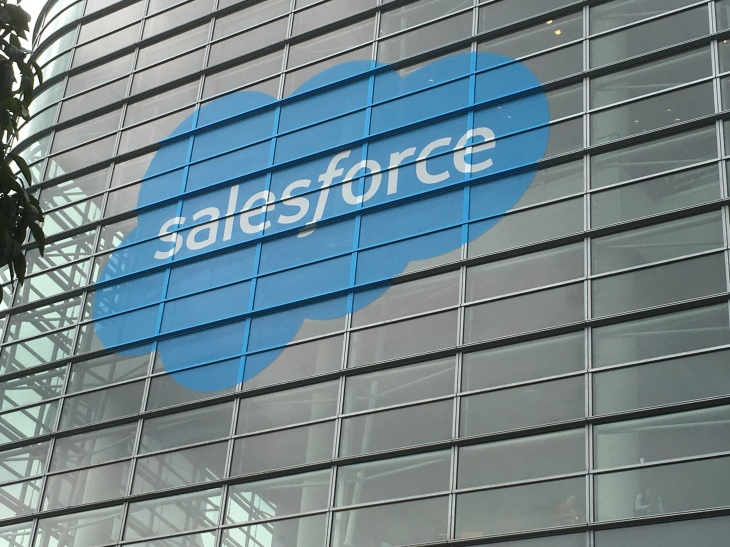 Salesforce logo on Moscone Center