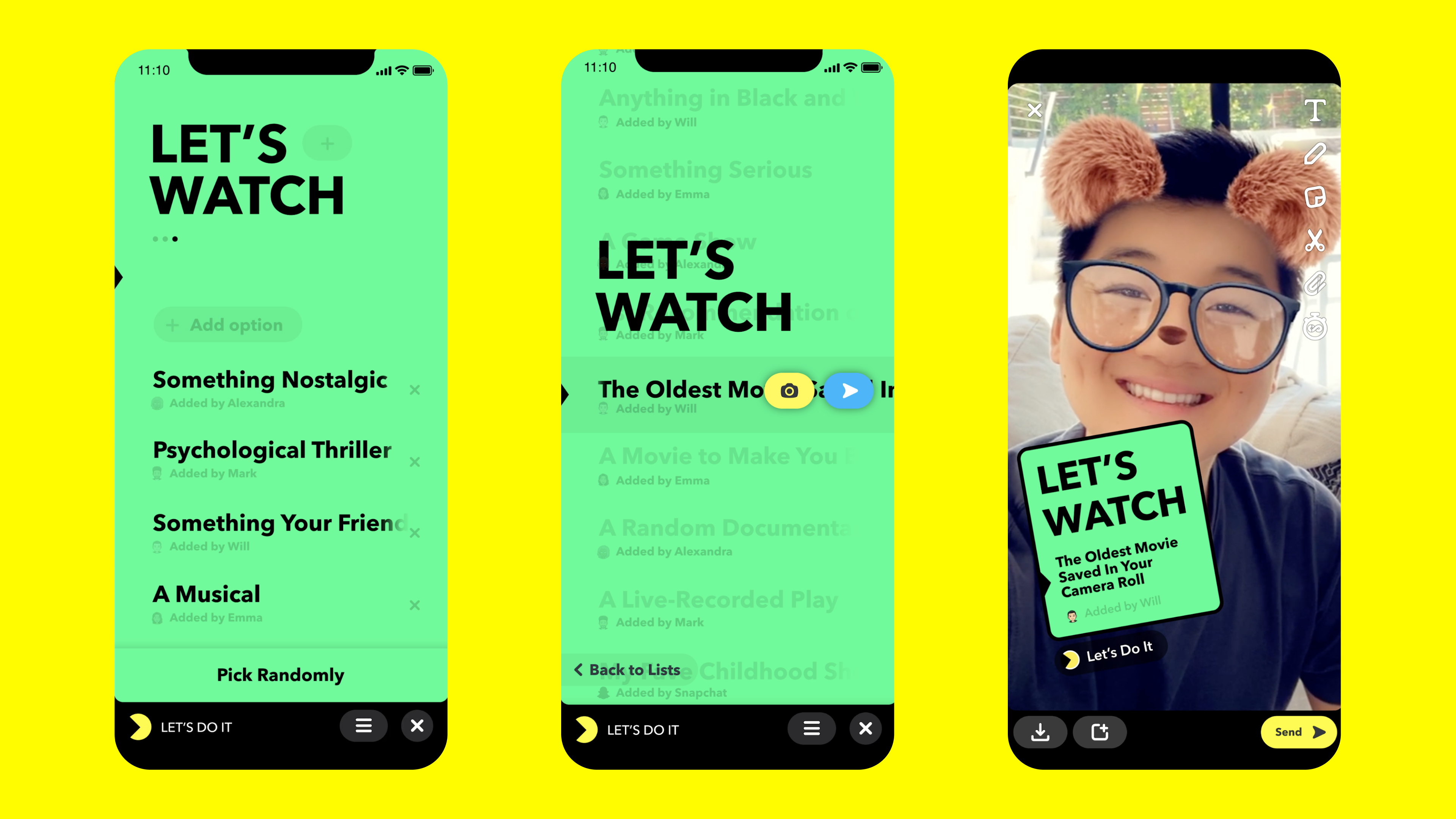 Snapchat debuts Minis, bite-sized third-party apps that live inside chat |  TechCrunch