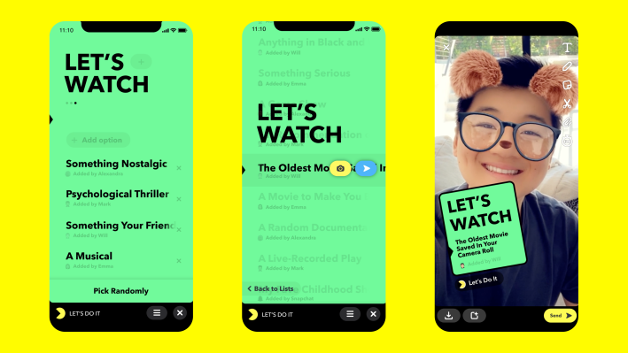 Snapchat debuts Minis, bite-sized third-party apps that live inside chat thumbnail