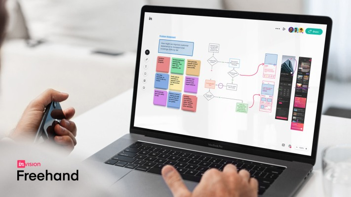 InVision adds new features to Freehand, a virtual whiteboard tool, as user demand surges thumbnail