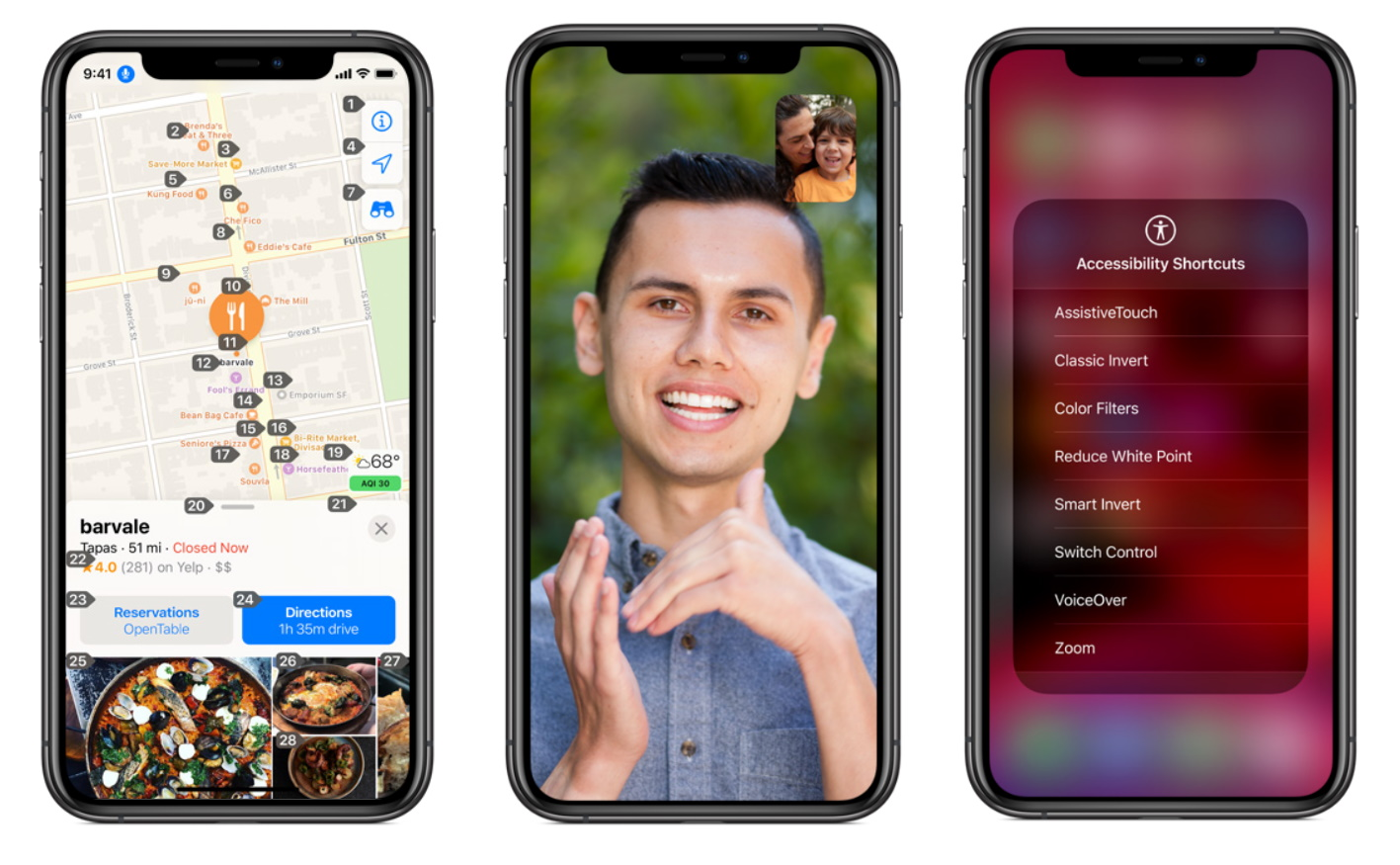 Accessibility features on the Apple iPhone
