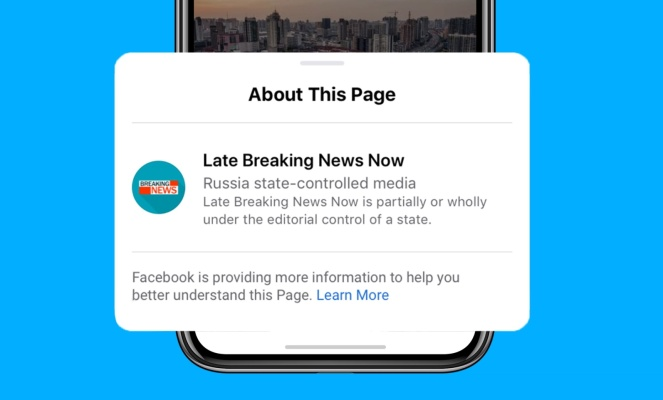Facebook adds labels identifying state-controlled media
