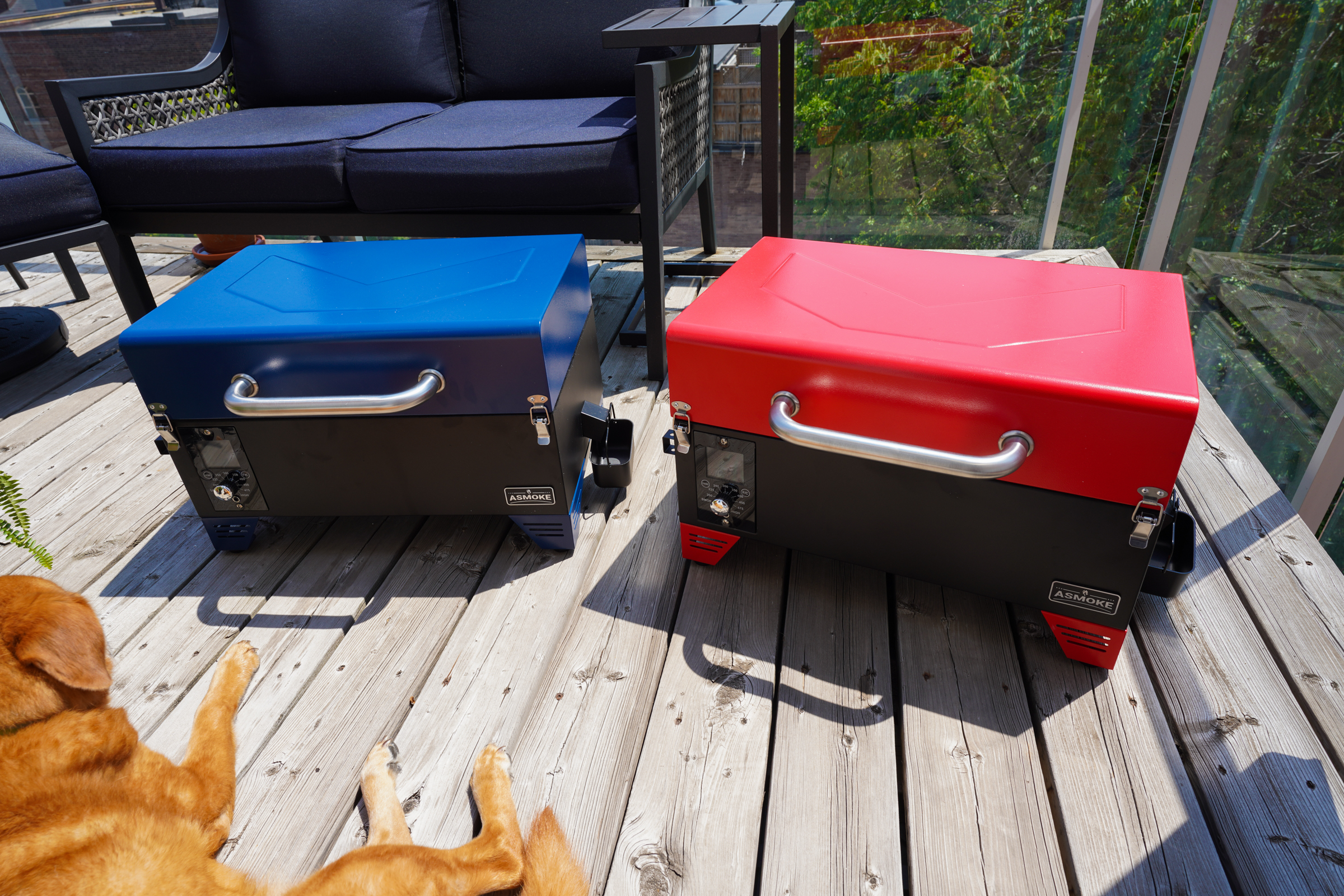 Asmoke's portable pellet grill is super affordable and great for small spaces