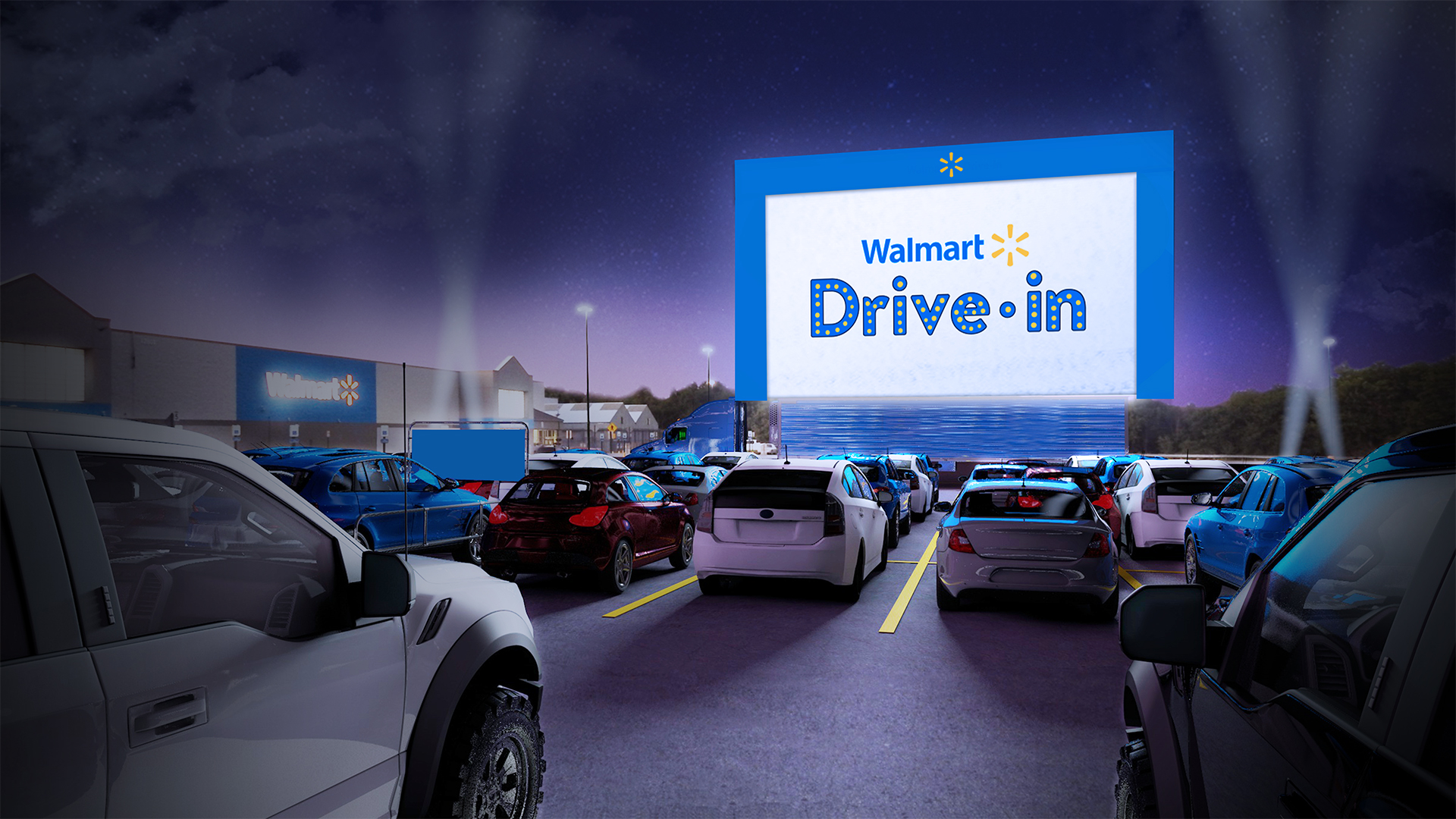 Walmart will transform its parking lots into drive-in theaters