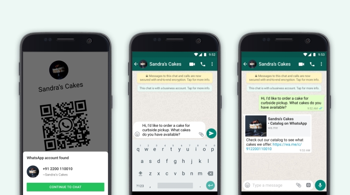 WhatsApp Business, now with 50m MAUs, adds QR codes and catalog sharing thumbnail