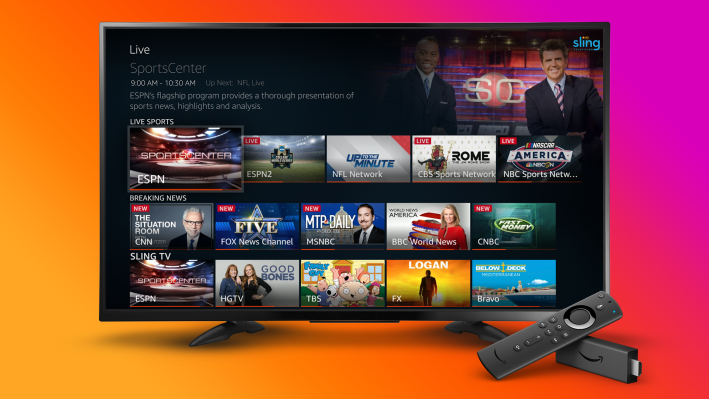 Amazon Fire TV now pulls in live TV content from Sling TV, YouTube TV and Hulu + Live TV thumbnail