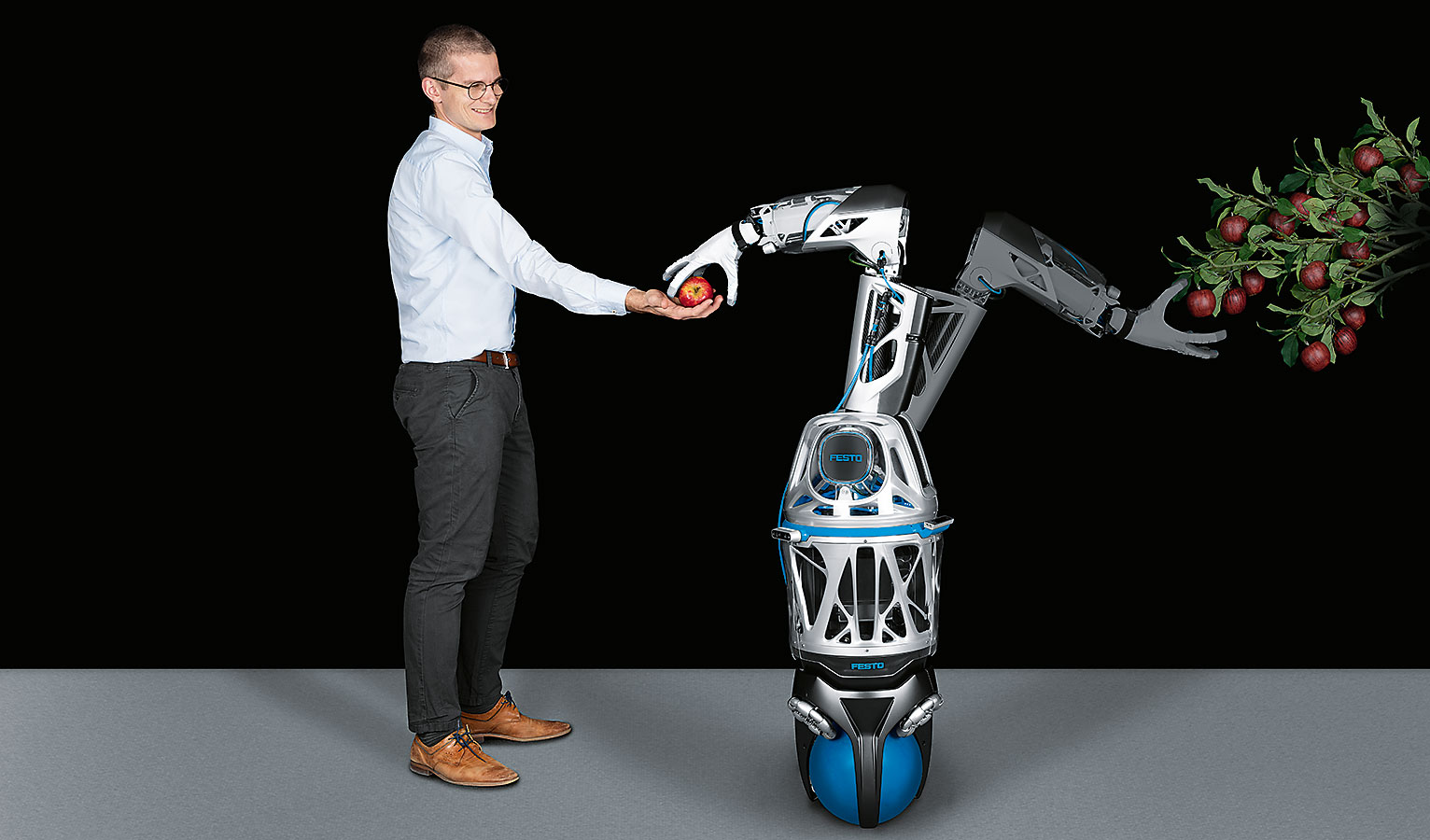 latest biomimetic robots ball-bottomed helper arm