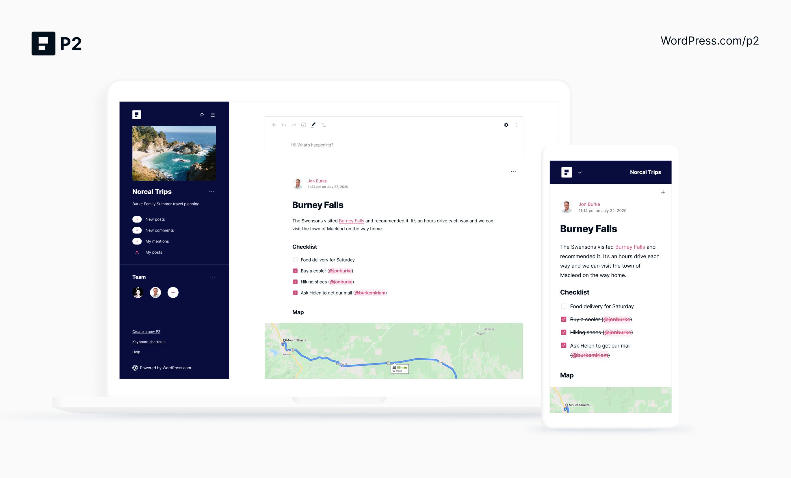 p2-screen-3 WordPress.com launches new P2 to take on internal communication tools – TechCrunch