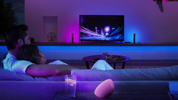 The Philips Hue Play HDMI Sync Box makes any home theater a bit more theatrical  TechCrunch