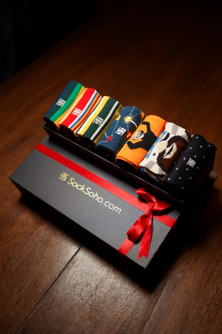 One of SockSoho's gift boxes