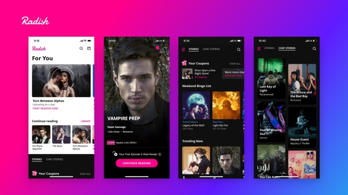 Serialized fiction startup Radish raises $63.2M from SoftBank and Kakao - techcrunch