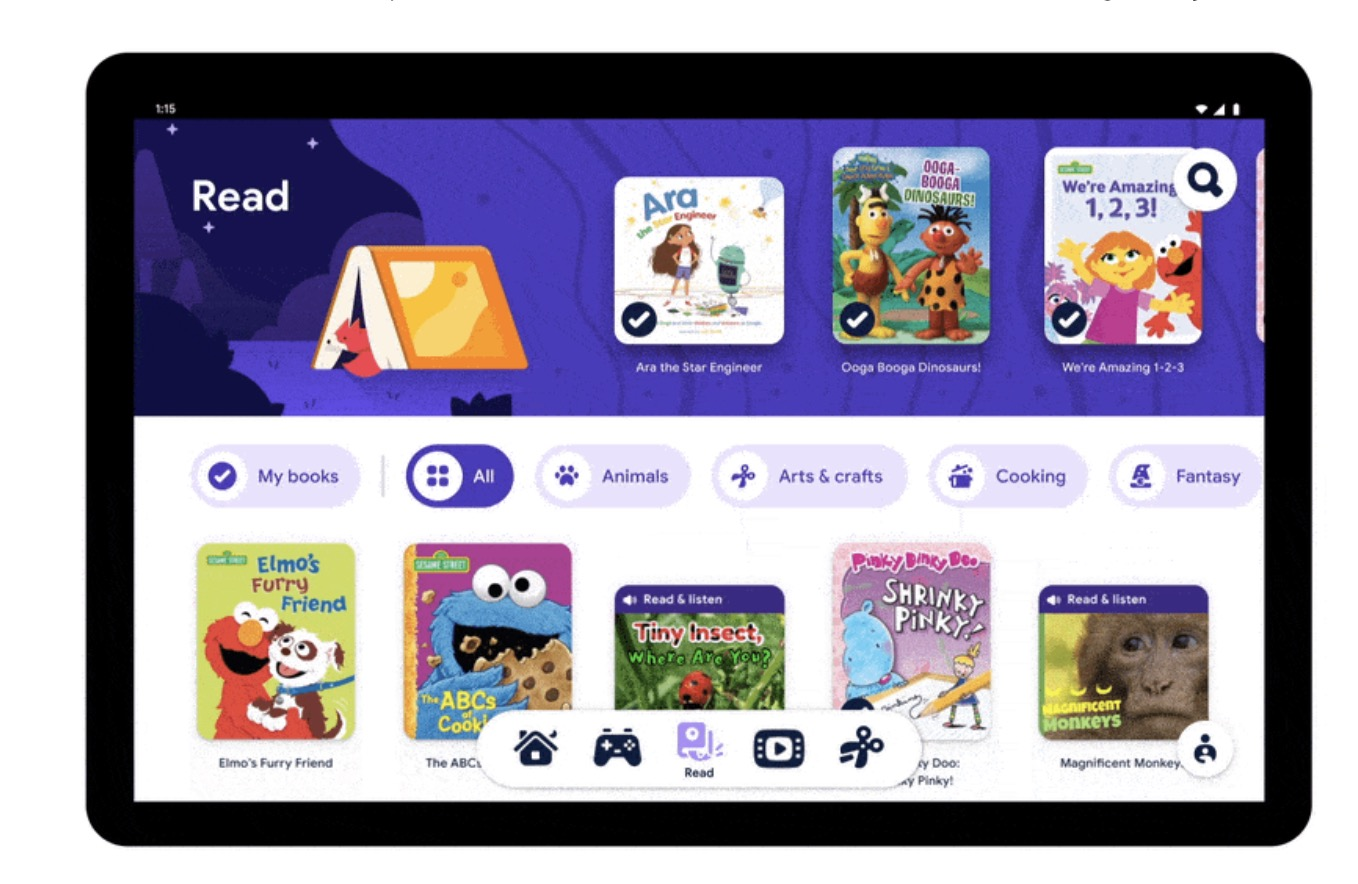 Meet Google Kids Space, a new kids mode on Android tablets