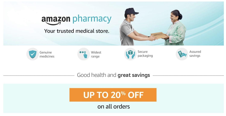 Amazon запускает интернет-аптеку в Индии 2020 Amazon, запуск, интернет