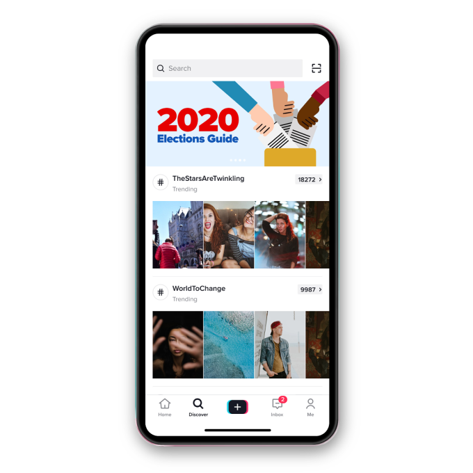 TikTok launches a US elections guide in its app