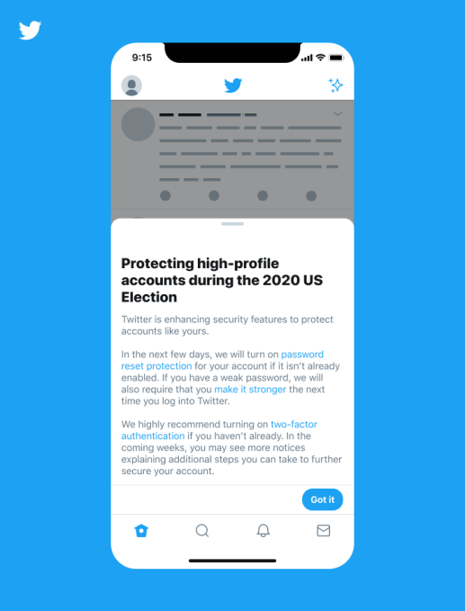 Twitter Tightens Account Security For Political Candidates Ahead Of Us Election Techcrunch