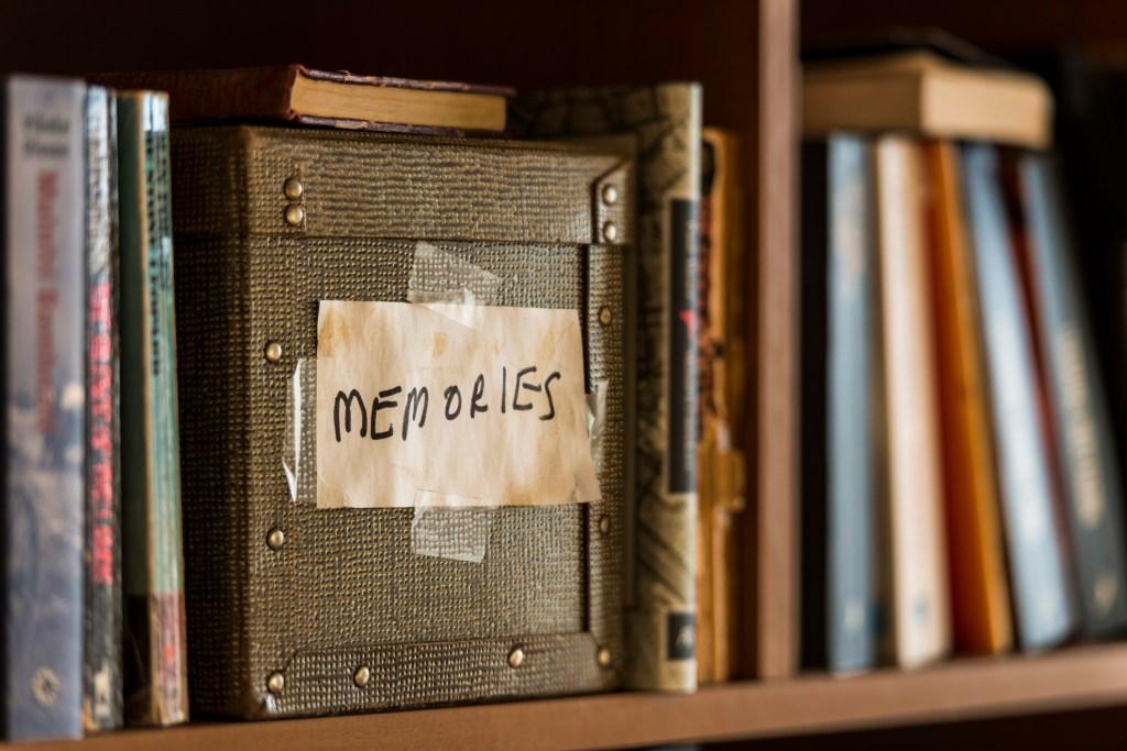 MMemories box in book shelf