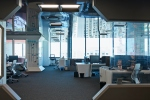 Interior shots of modern designed open office