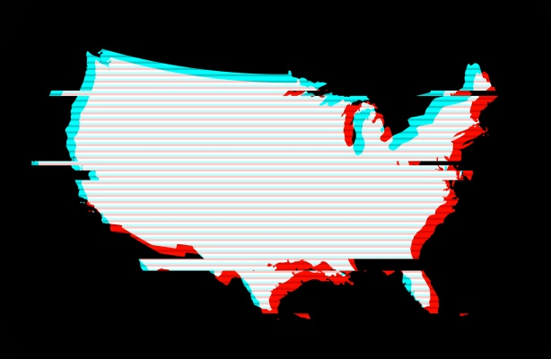 Gettyimages usa map inverted