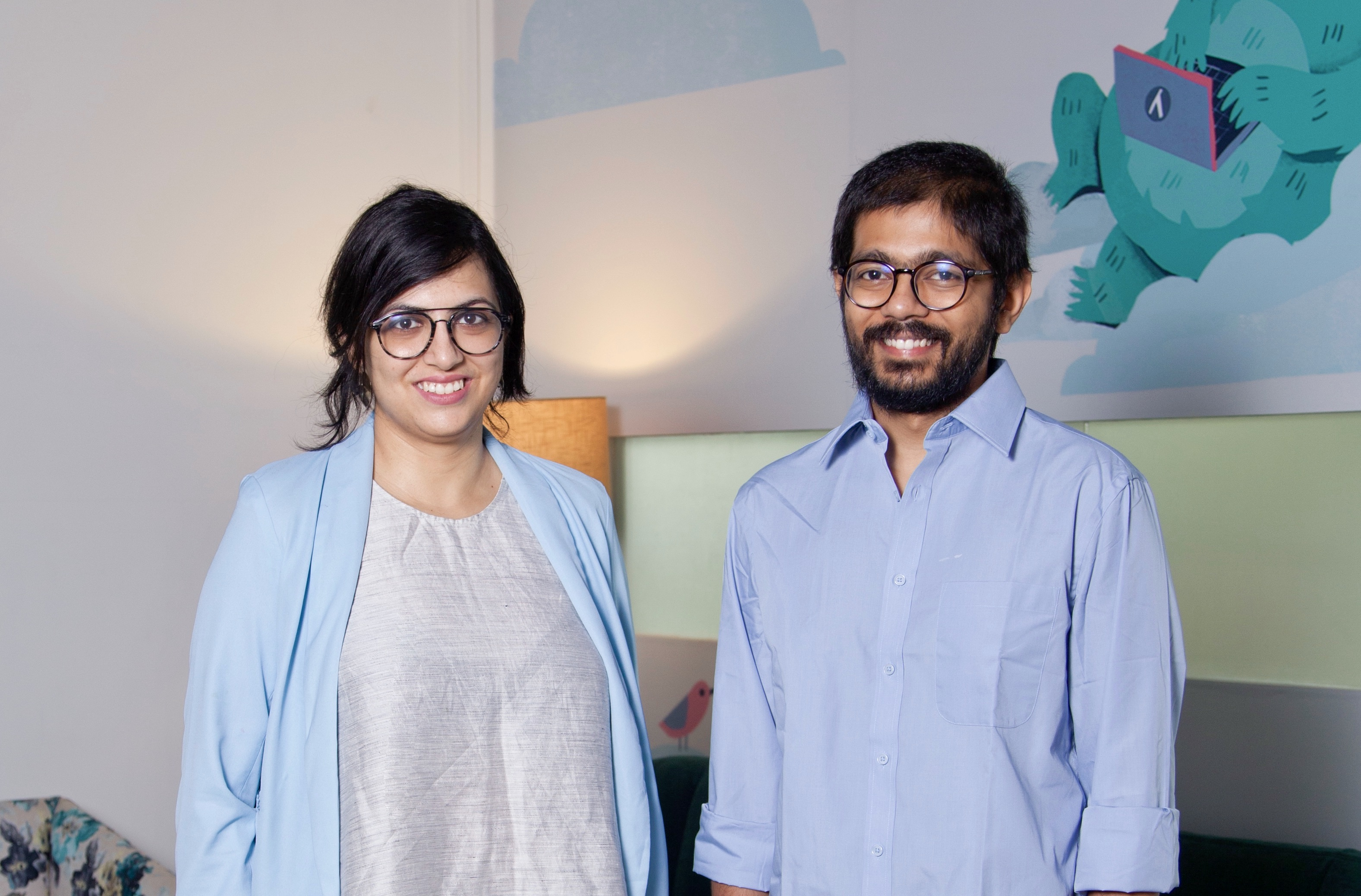 Rajoshi Ghosh, co-founder and COO (left) and Tanmai Gopal, co-founder and CEO (right).