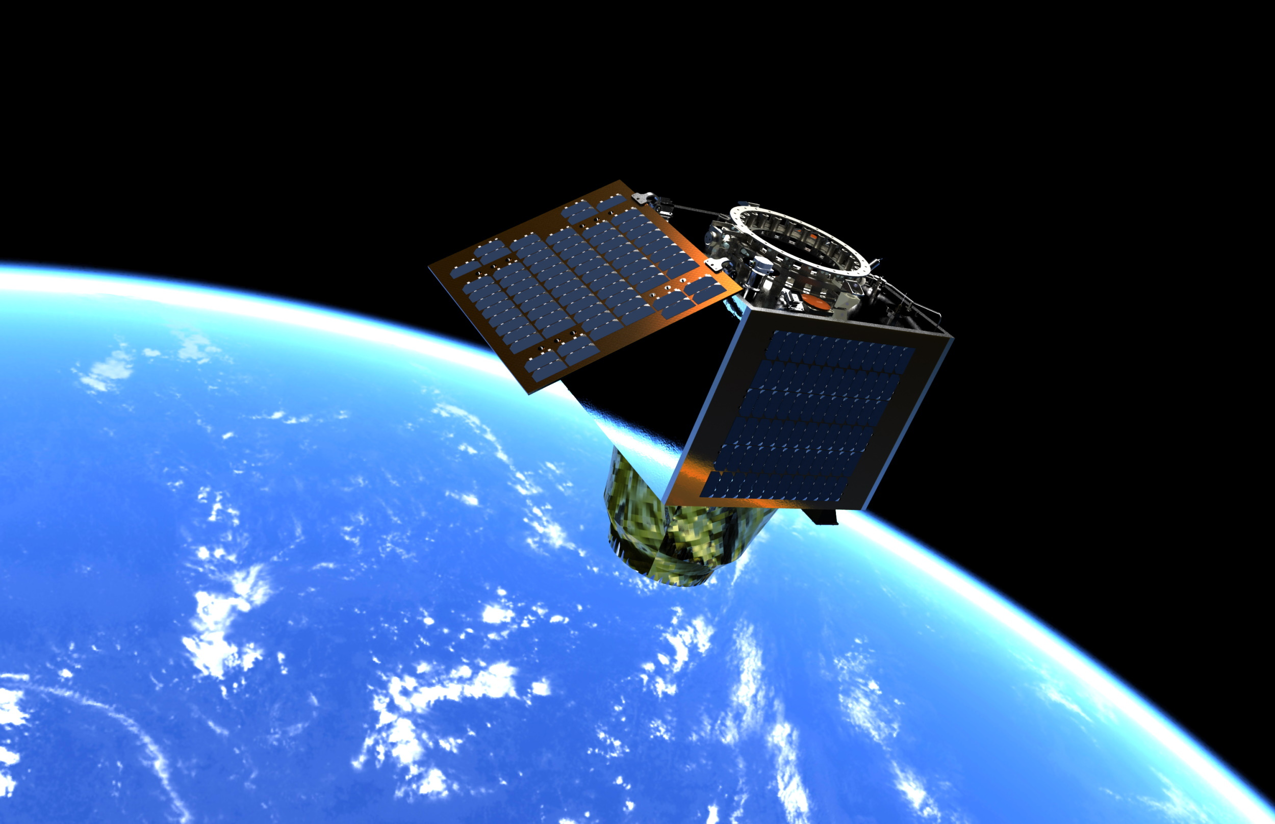 Simulated image of a Satellite Vu imaging satellite.