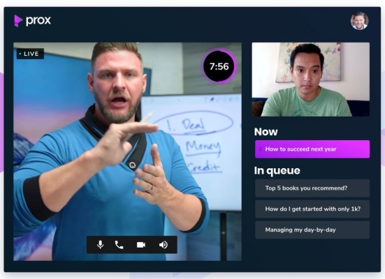 Prox helps influencers and experts make money by connecting with fans thumbnail