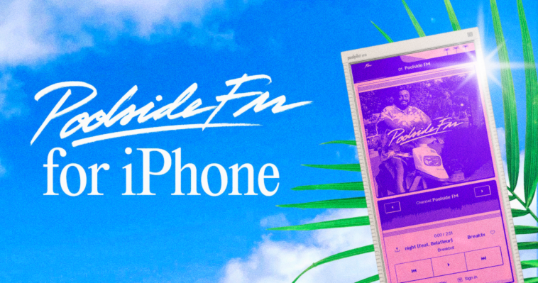 Retro-inspired music player Poolside.fm brings its summery fun to iPhone thumbnail
