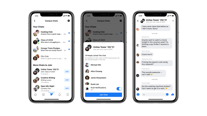Still Chat - Facebook returns to its roots with Campus, a college student-only social network