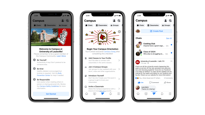 Still Feed - Facebook returns to its roots with Campus, a college student-only social network