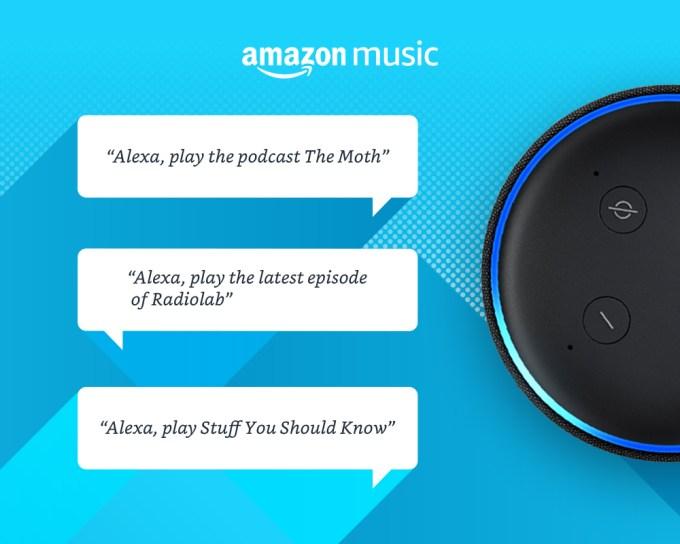 Amazon Музыка добавляет подкасты, в том числе собственные оригинальные шоу 2020 Amazon