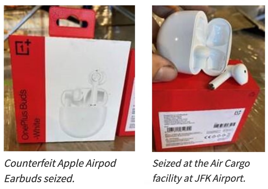 US Border Patrol seized OnePlus Buds as 'counterfeit Apple AirPods'