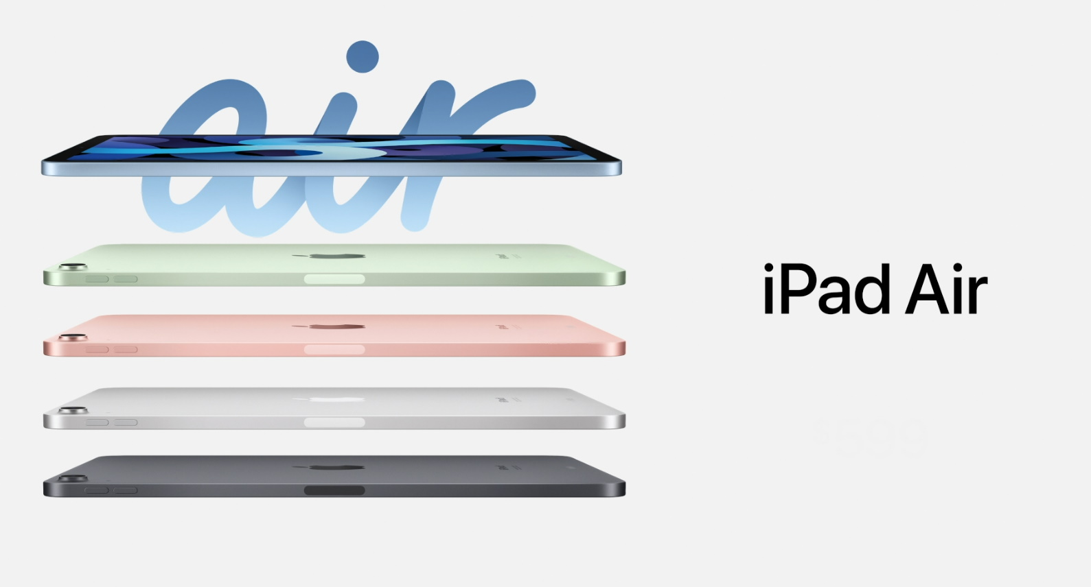 This is the new iPad Air, with Touch ID built into the power button –