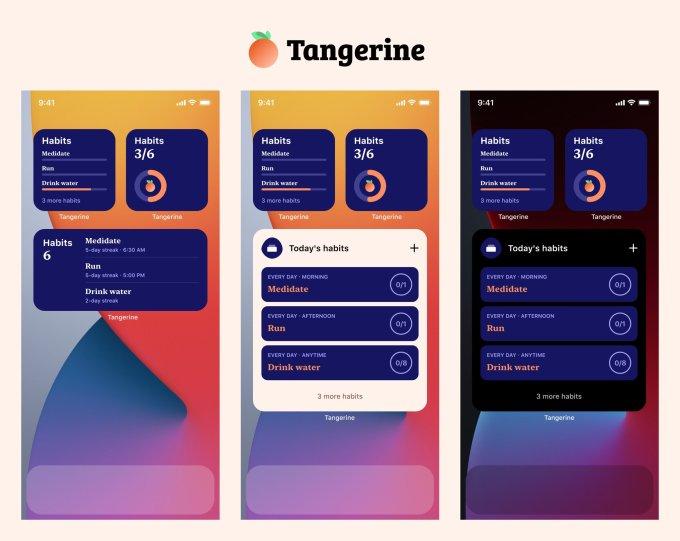 tangerine widgets