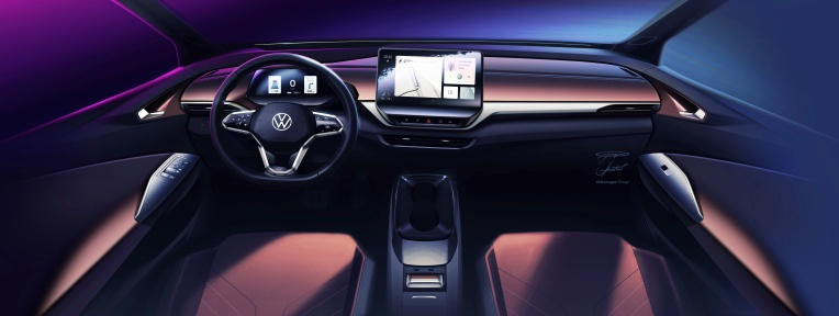 VW's all-electric ID.4 will use interior lighting to communicate with the driver thumbnail
