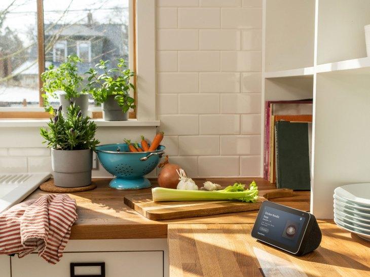 Echo Show 5 in a kitchen