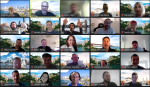 A video call group photo of NeuraLegion's team working remotely around the world