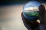 """Dreamy landscape in handheld lensball (Original Title: """"Preservation"""")"""