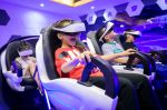 HOHHOT, CHINA - JULY 22: Children wearing VR headsets watch videos at a science and technology museum during their summer vacation on July 22, 2020 in Hohhot, Inner Mongolia Autonomous Region of China. (Photo by Ding Genhou/VCG via Getty Images)