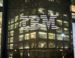 The IBM logo is seen on their building's headquarters in New York on Tuesday, December 22, 2015. (�� Richard B. Levine) (Photo by Richard Levine/Corbis via Getty Images)