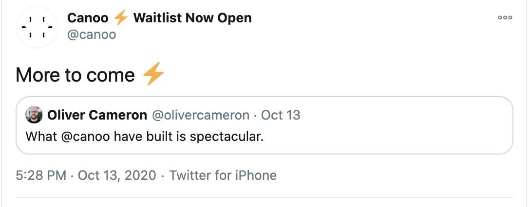 canoo voyage twitter
