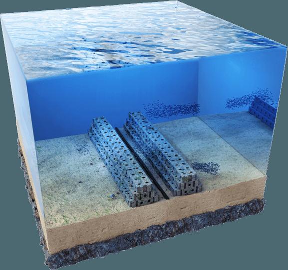 'Reefcubes' para ayudar a reconstruir los arrecifes.