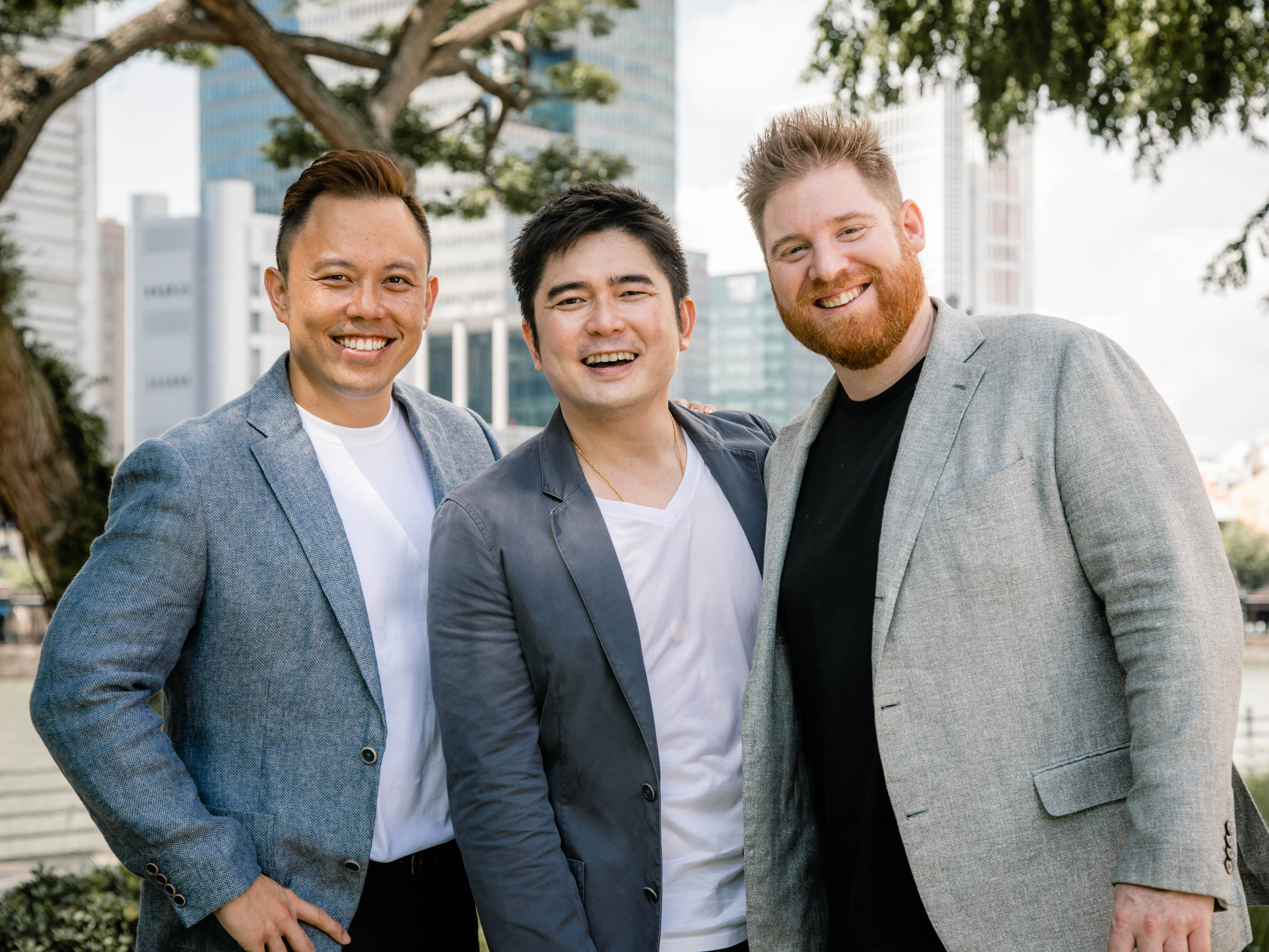 The-Wolfpack's co-founders, Toh Jin Wei, Tan Kok Chin and Simon Nichols