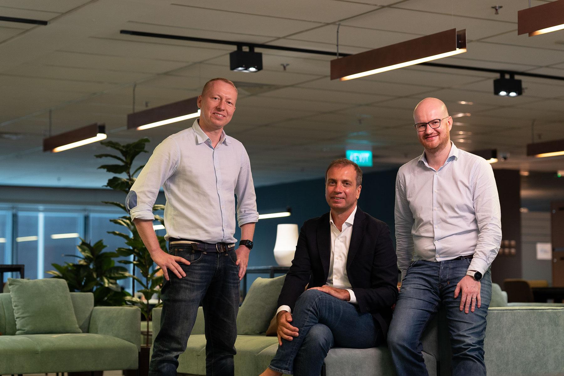 Osome's founding team, Anton Roslov, Victor Lysenko and Konstantin Lange