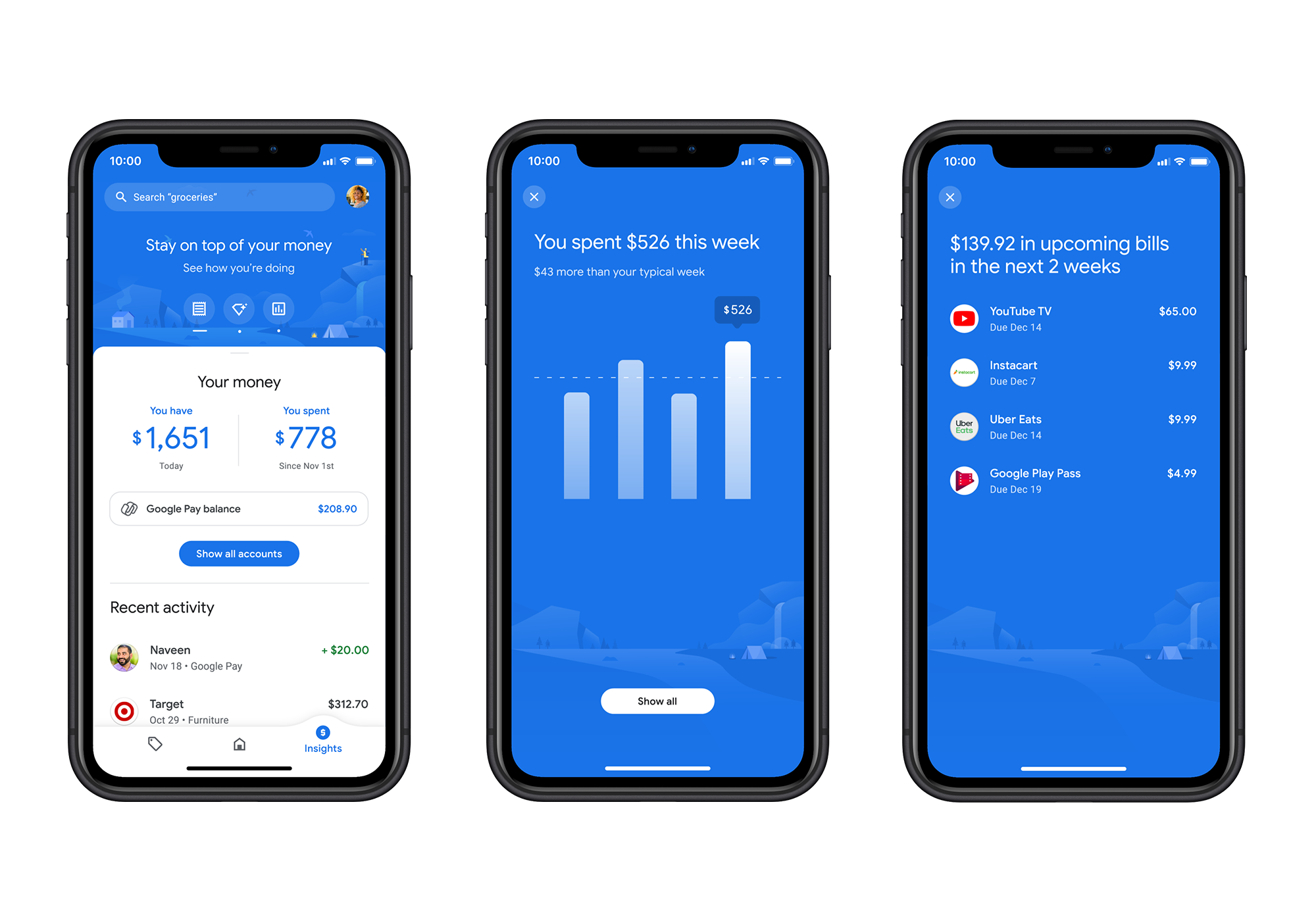Google  is launching a major redesign of its Google Pay app on each Android and iOS at present. Like related phone-based contactless fee providers, Google Pay — or Android  Pay because it was identified then — began out as a primary alternative in your bank card. Over time, the corporate added a few extra options on prime of that however the total focus by no means actually modified. After about 5 years out there, Google Pay now has about 150 million customers in 30 international locations. With at present's replace and redesign, Google is conserving all of the core options intact but additionally taking the service in a new course with a robust emphasis on serving to you handle your personal funds (and possibly get a deal right here and there as properly).
