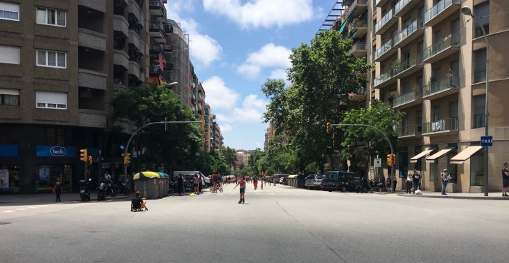 Barcelona car-free Sunday