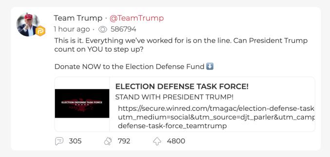 Free Speech Social Network Parler Tops App Store Rankings Following Biden S Election Win Techcrunch