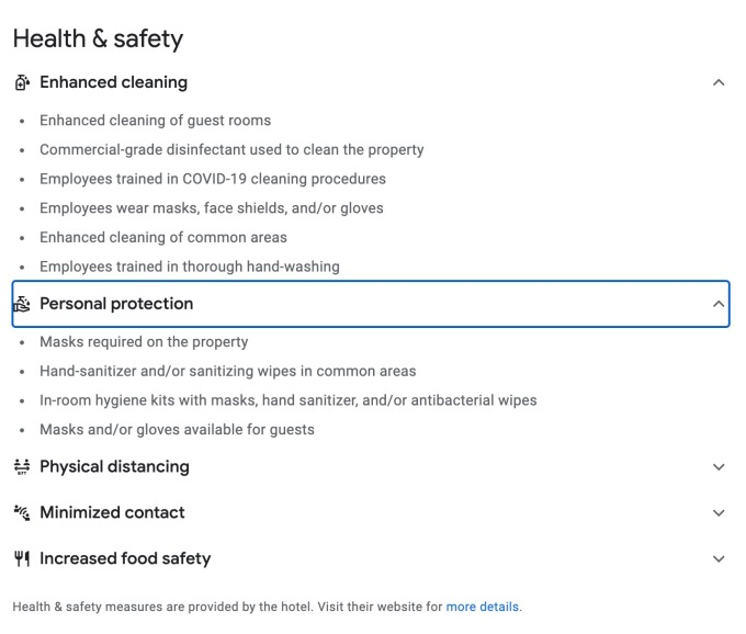 Google adds COVID-related health and safety information to Google Travel