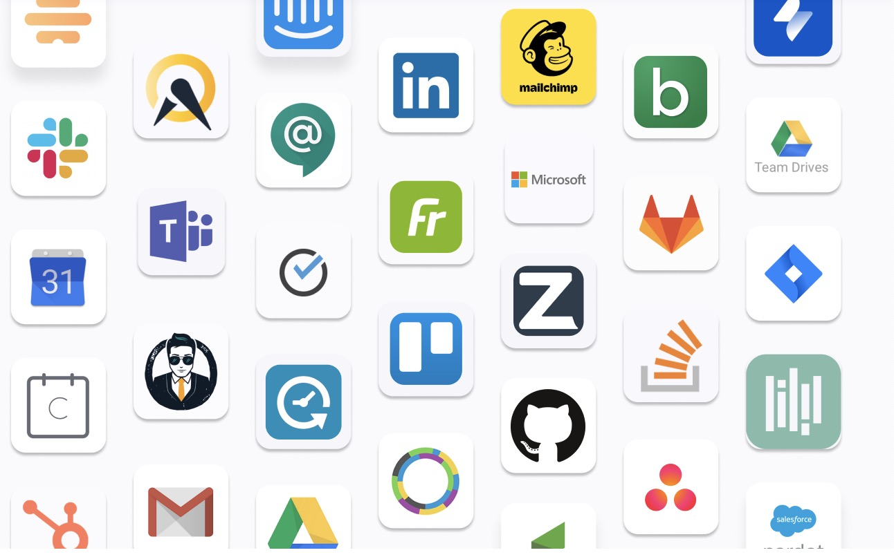 Corporate logos in the Zoom Apps market