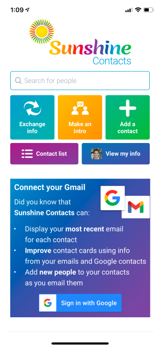 Marissa Mayer's startup launches its first official product, Sunshine Contacts