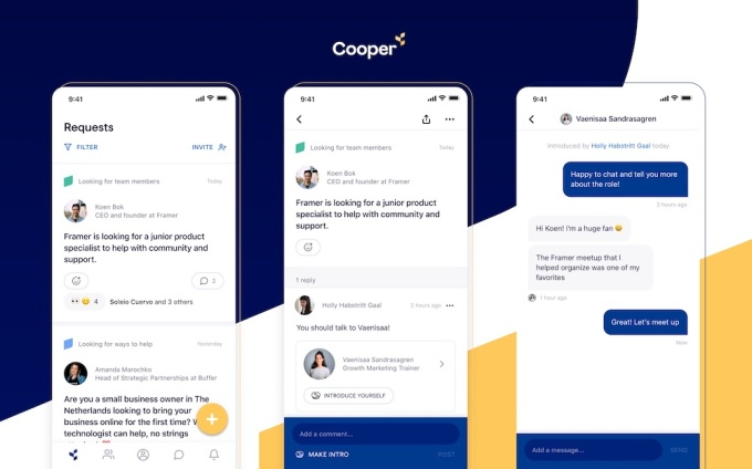 Cooper raises M to build a professional network centered on introductions